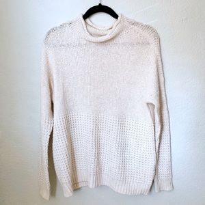 American Eagle Cream Knit Cozy Sweater